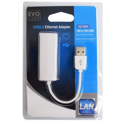 Evo Labs 10/100 USB to Ethernet Adapter