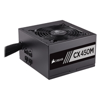 Corsair Cx Series Cx450m 450w 120mm Thermally Controlled Fan 80 Plus Bronze Semi Modular Psu Cp-9020101-uk - Tgt01