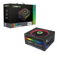 Game Max RGB 550W 140mm Ultra Silent RGB Ring Fan 80 PLUS Gold Fully Modular PSU