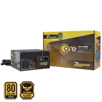 Seasonic Core Gm 650w 120mm Sleeve Bearing Fan 80 Plus Gold Semi Modular Psu Ssr-650gm - Tgt01