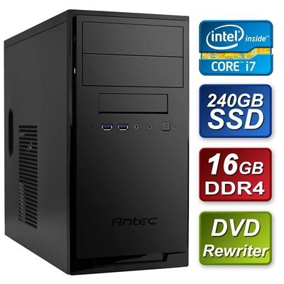 Antec Intel i7-8700 Six Core 3.2GHz 16GB DDR4 RAM 240GB SSD DVDR