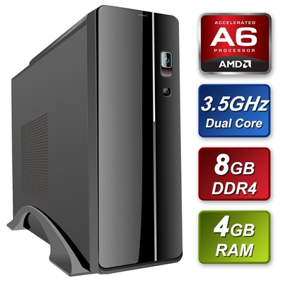 Small Form Factor AMD A6-9500 3.5GHz Dual Core 8GB RAM 120GB SSD