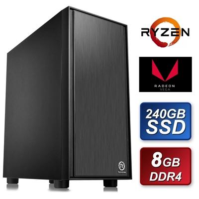 Thermaltake AMD Ryzen 3200G 3.6GHZ Quad Core 8GB DDR4 RAM 240GB