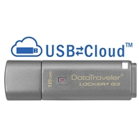 Kingston Locker+ G3 16GB USB 3.0 Silver USB Flash Drive