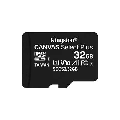 Kingston Canvas Select Plus 32GB Micro SD UHS-I Flash Card No Ad