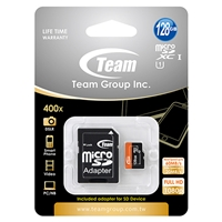 Team 128gb Micro Sdxc Uhs-1 Class 10 Flash Card With Adapter Tusdx128guhs03 - Tgt01