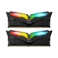 Team NIGHT HAWK RGB 16GB Black Heatsink with RGB LEDs (2 x 8GB) DDR4 3200MHz DIMM System Memory