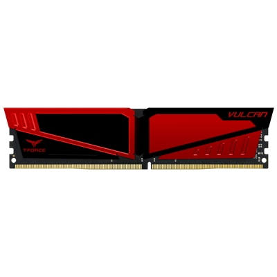 Team Vulcan 16GB Red Heatsink (1 x 16GB) DDR4 2666MHz DIMM Syste