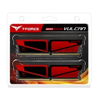 Team Vulcan 16gb Red Heatsink (2 X 8gb) Ddr4 3000mhz Dimm System Memory Tlred416g3000hc16cdc01 - Tgt01