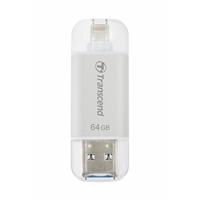 Transcend Jetdrive 64gb Usb 3.1 Silver Usb Flash Drive For Iphone And Ipad Ts64gjdg300s - Tgt01