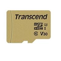 Transcend 64GB Micro SDXC Class 10 UHS-I U3 Flash Card with Adapter