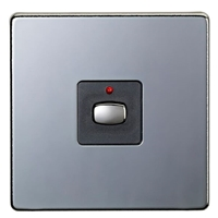 MiHome Smart Black Nickel 1 Gang Dimmer