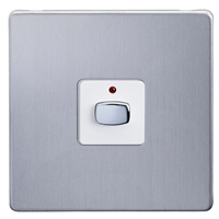 MiHome Smart Brushed Steel 1 Gang Dimmer