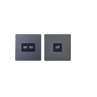Energenie MIHO091 Energenie MiHome 2-Gang Light Switch Black Nickel (Master/Slave) - Pack of 2
