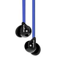 Veho 360 Z-1 Noise Isolating Stereo Earphones With Flat Flex Anti Tangle Cord Blue Vep-003-360z1-n - Tgt01