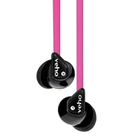 Veho 360 Z-1 Noise Isolating Stereo Earphones With Flat Flex Anti Tangle Cord Pink Vep-003-360z1-p - Tgt01