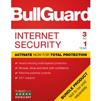 Bullguard Internet Security 2019 1year/3pc Windows Only Single Soft Box English Bg1906sin - Tgt01