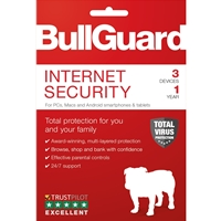 Bullguard Internet Security 2018 1year/3 Device Multi Device Single Retail License English Bg1912sin - Tgt01