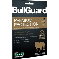 Bullguard Premium Protection 2020 1 Year/10 Device 10 Pack Multi Device Retail Licence English Bg2032 - Tgt01