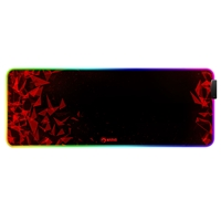 Marvo MG011 Gaming Mouse Pad with 4-port USB Hub and 11 RGB Effects, XL 800x300x4mm, USB Connection, Soft Microfiber Surface for speed and control with Non-Slip Rubber Base and Stitched Edges, Black