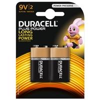 Duracell Plus Power Alkaline Pack of 2 9V Battery