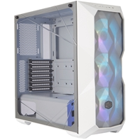 Cooler Master MasterBox TD500 Mesh Mid Tower 2 x USB 3.0 Crystalline Tempered Glass Side Window Panel White Case with Addressable RGB LED Fans