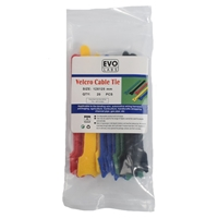 Evo Labs Multicolour Velcro Cable Ties 125 x 12mm 20 Pack