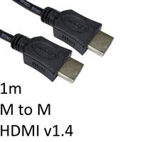 HDMI 1.4 (M) to HDMI 1.4 (M) 1m Black OEM Display Cable