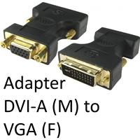 DVI-A (M) to VGA (F) Black OEM Adapter