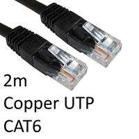 RJ45 (M) to RJ45 (M) CAT6 2m Black OEM Moulded Boot Copper UTP Network Cable