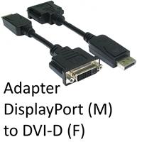 DisplayPort 1.2 (M) to DVI-D (F) Black OEM Adapter