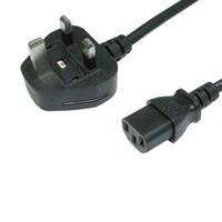 UK Mains to IEC C13 Kettle 5m Black OEM Power Cable