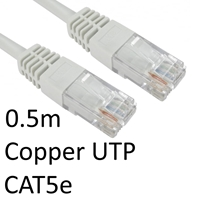 RJ45 (M) to RJ45 (M) CAT5e 0.5m White OEM Moulded Boot Copper UTP Network Cable