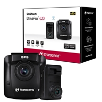 Transcend DrivePro 620 Full HD 1080P Dual Dashcam With Built-in Wi-Fi and GPS Includes Mounts