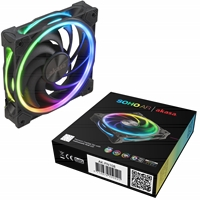 Akasa Soho AR 120mm 2000RPM PWM Addressable RGB LED Fan