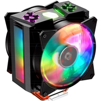 Cooler Master MasterAir MA410M Universal Socket 120mm PWM 1800RPM Addressable RGB LED Fan CPU Cooler with Wired Addressable RGB Controller