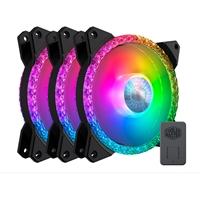 Cooler Master MasterFan MF120 Prismatic Addressable Gen 2 RGB 3 Fan Pack with ARGB Controller