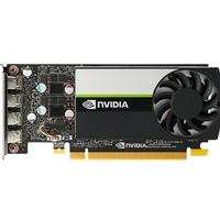 NVIDIA Quadro T1000 Quadro Graphics Card, 4 GB GDDR6, 2.50 TFLOPS, PCIe 3.0 x16 Low Profile w Full Sized Bracket, 4 x Mini DisplayPort with Full Sized Adapters
