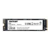 Patriot P300 (P300P128GM28) 128GB NVMe M.2 Interface, PCIe x3, 2280 Length, Read 1600MB/s, Write 600MB/s, 3 Year Warranty