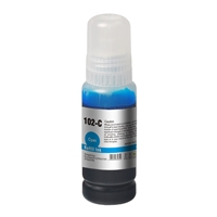 InkLab 102 Epson Compatible EcoTank Cyan ink bottle