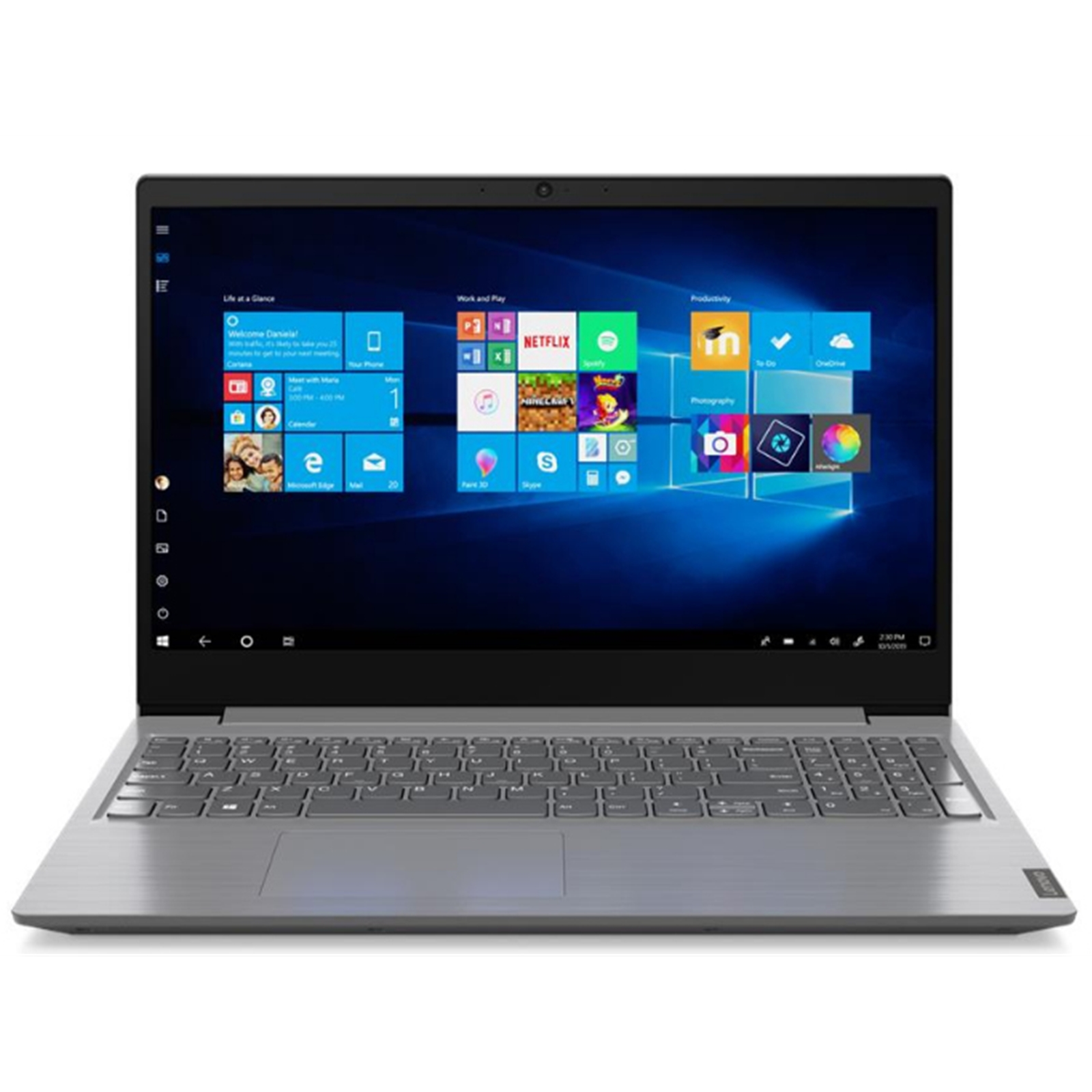 Lenovo V15 82C500A3UK Core i5-1035G1 8GB RAM 256GB SSD 15.6 inch Full HD Windows 10 Pro Laptop Iron Grey
