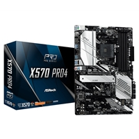 ASRock X570 PRO4 AMD Socket AM4 ATX DDR4 HDMI/DisplayPort Dual M.2 USB C 3.2 Motherboard