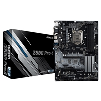 ASRock Z390 Pro4 Intel Socket 1151 ATX VGA/HDMI/DVI-D USB C 3.1 Dual M.2 Motherboard
