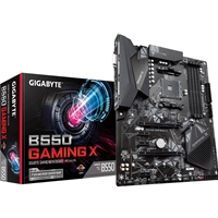 Gigabyte B550 GAMING X AMD Socket AM4 ATX DVI/HDMI Dual M.2 USB 3.2 Gen2 Motherboard