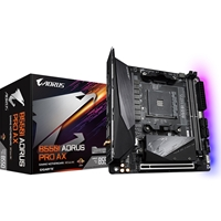 Gigabyte B550I AORUS PRO AX AMD Socket AM4 Mini ITX Dual HDMI/DIsplayPort M.2 RGB USB 3.2 Type-C Motherboard