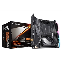 Gigabyte X570 I AORUS PRO WIFI AMD Socket AM4 Mini ITX HDMI/DisplayPort DDR4 Dual PCIe 4.0 M.2 WiFi 6 RGB Motherboard