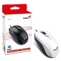 Genius DX-110 USB White Mouse