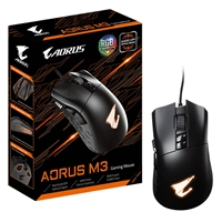 Gigabyte Aorus M3 USB RGB Fusion 2.0 LED Matte Black Gaming Mouse