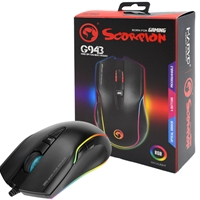 Marvo Scorpion G943 USB RGB LED Black Programmable Gaming Mouse