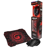 Marvo Scorpion M355 USB 7 Colour LED Black Programmable Gaming Mouse with G1 Small Gaming Mouse Pad Gaming Combo